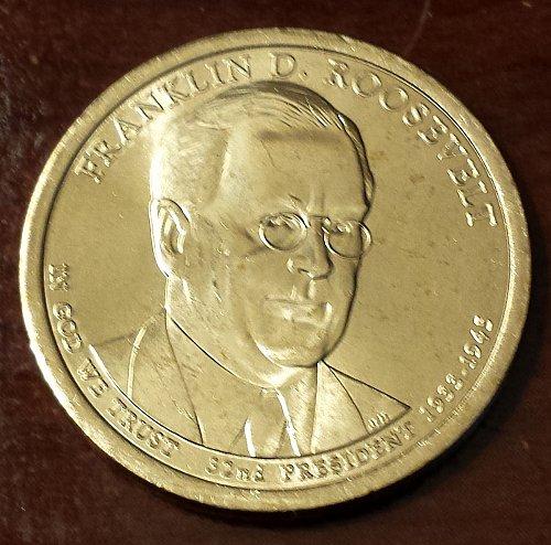 2014-D Franklin D. Roosevelt Presidential Dollar (5831)