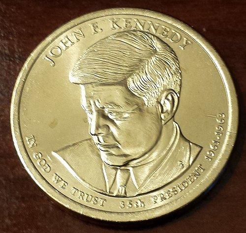 2015-D $1 John F. Kennedy Presidential Dollar - From US Mint Roll (5834)