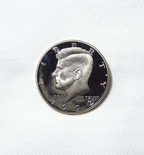 1992-S Proof Kennedy Half Dollar, 50 Cents,