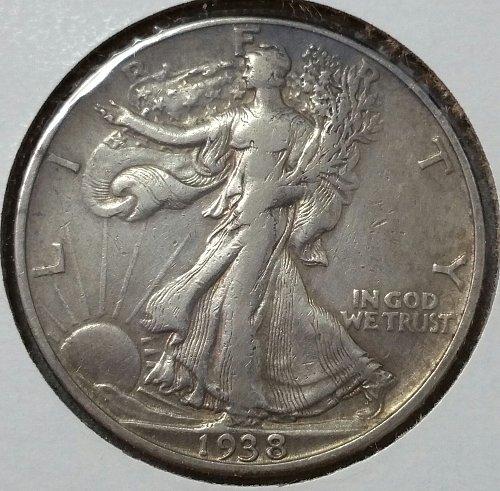 1938 D Walking Liberty Half Dollar - VF