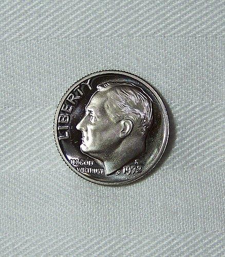 1972-S Clad Proof DCam Roosevelt Dime 10 Cent