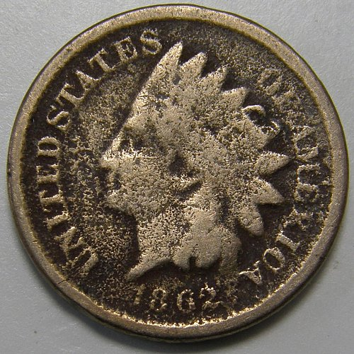 1862 Indian Head Cent #5