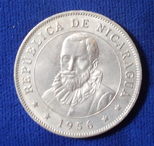 1956 Nicaragua 50 Centavos UNC