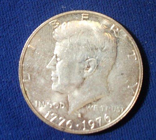 1976S 40% Kennedy Bi-Centennial Half, UNC