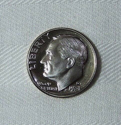 1974-S Clad Proof Roosevelt Dime 10C., Uncirculated