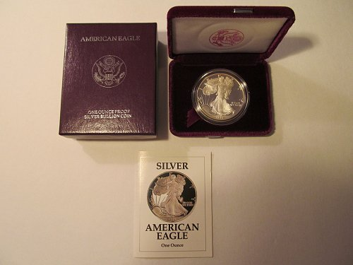 1991S silver American Eagle