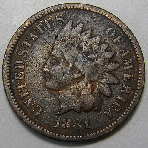 1881 Indian Head Cent #5