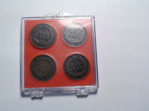 (4) INDIAN HEAD CENTS - 1902 - 03 - 04 - 05
