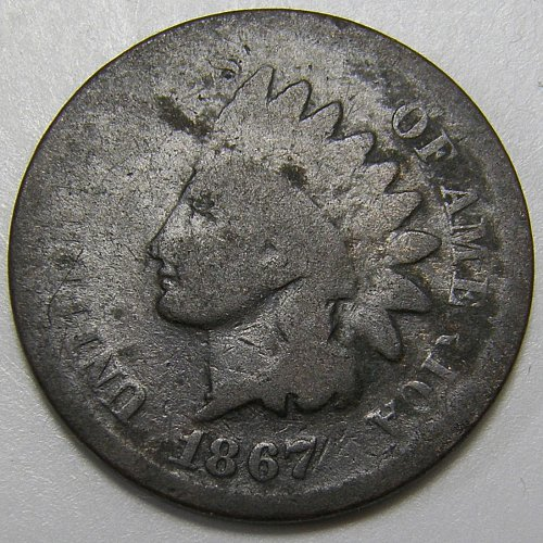 1867 Indian Head Cent #3