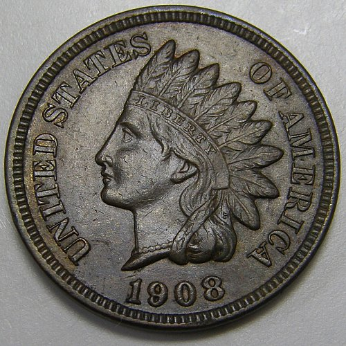 1908 P Indian Head Cent #2