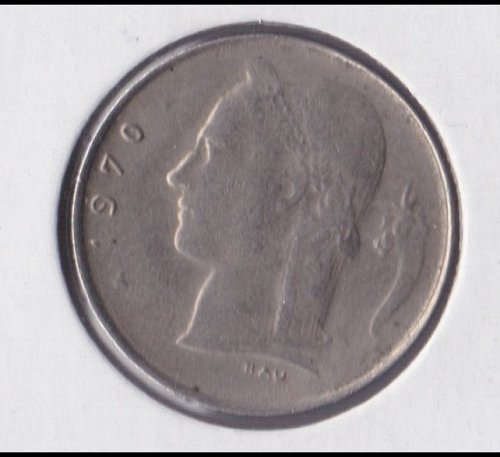 Belgium 1970 - 1 Franc Copper-Nickel Coin - Dutch Legend