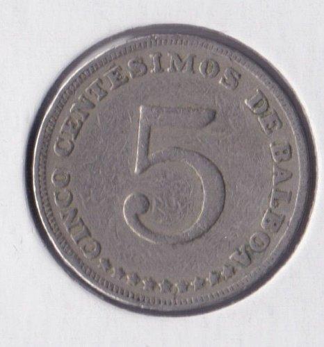 1982 PANAMA - Cinco 5 centesimos de Balboa - 5 Cents