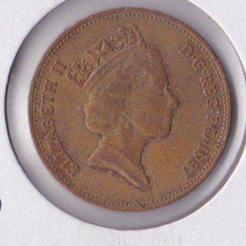 1987 England - 2 Pence