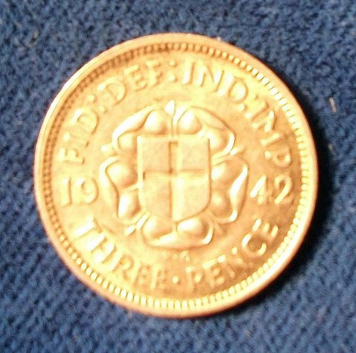 Great Britain 1942 Threepence AU+