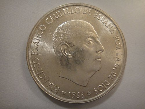 SPAIN 100 Pesetas 1967 MS-63 (Choice BU) Nice Portrait of Gen. Franco!