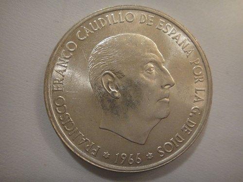 SPAIN 100 Pesetas 1967 MS-63 (Choice BU) Nice Portrait of Gen. Franco!