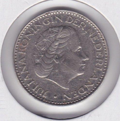 1968 Netherlands - Nederland 1 Gulden Coin - Juliana Koningin Der Nederlanden