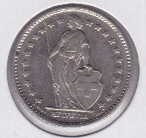 1980 Switzerland 1 Francs - Suisse, Confédération Helvétique