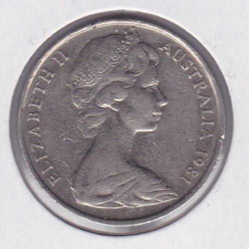 1981 Australia 10 Pence Coin