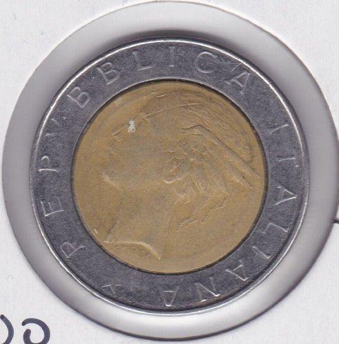 1985 Italy 500 Lire Bi-Metallic Coin