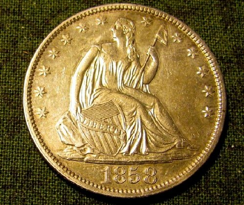 1858 P Seated Liberty half Dollar BU Special 48 hr. SALE Only/////   A-07