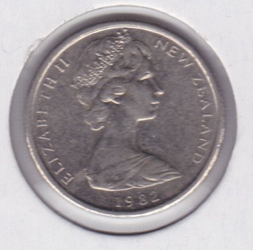 1982 New Zealand 5 Pence Coin - UNC