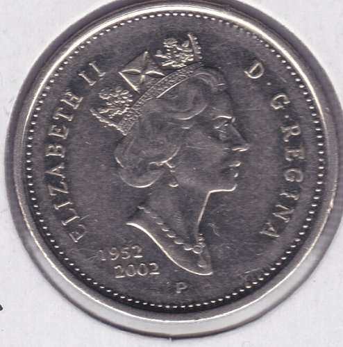 2002 Canada 25 Cents Coin