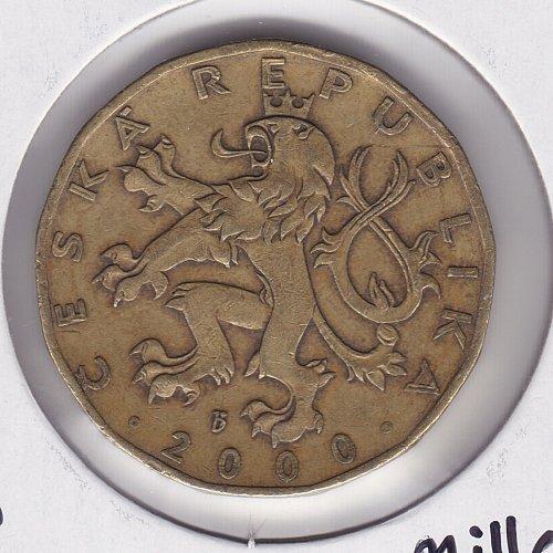 "2000 Czech Republic 20 Korun Coin - Commemorative ""Millenium"""