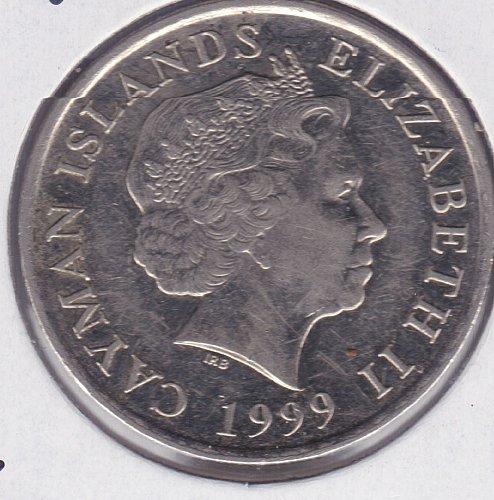 1999 Cayman Islands 25 Cents - Schooner - IRB