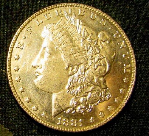 1881 BU Morgan Silver Dollar-w/mirrored  3 DAY SALE!   A-1