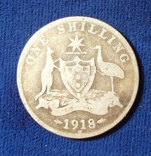 1918 Australia Shilling VG