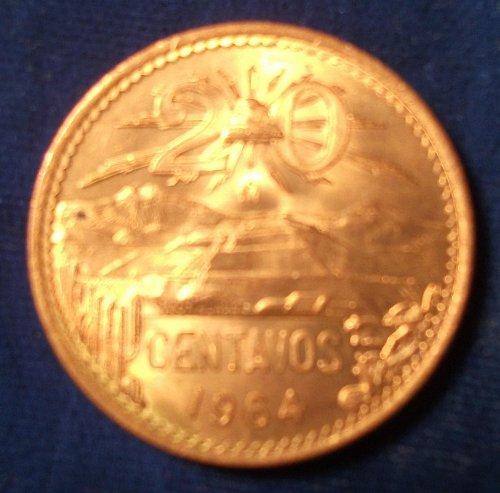 1965 Mexico 20 Centavos BU