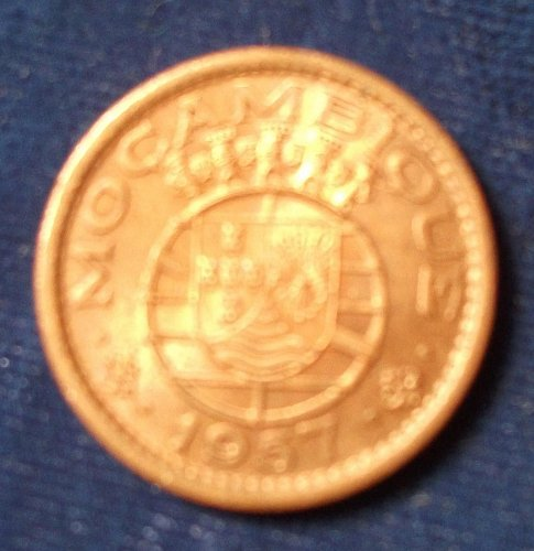 1957 Mozambique 50 Centavos UNC