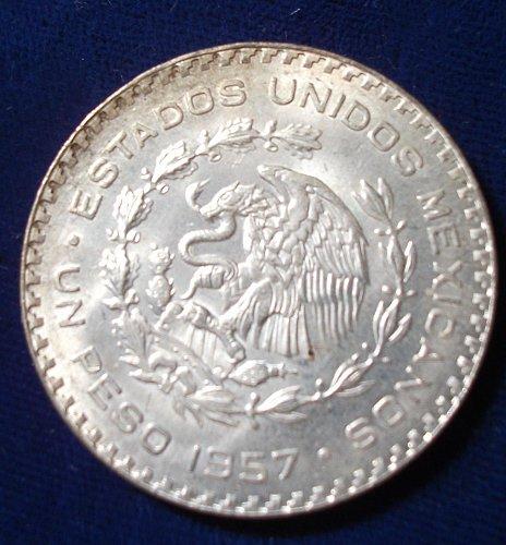 1957 Mexico Peso BU