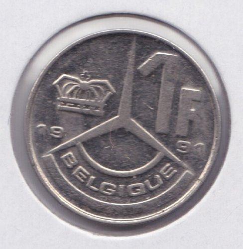 1991 Belgium 1 Franc - Boudewijn I