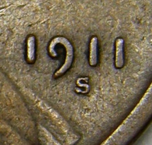 1911 S Lincoln Wheat Cent #6 RPM-001 TOP 100