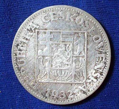 1932 Czechoslovakia 10 Korun VF