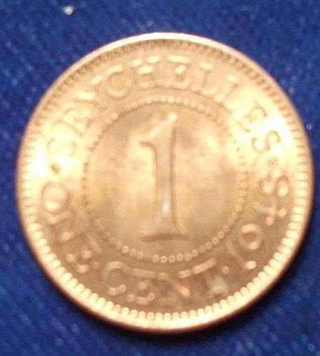 1948 Seychelles 1 Cent UNC