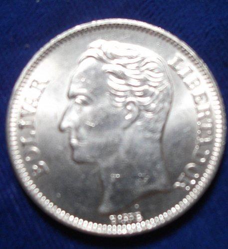 1989 Venezuela 2 Bolivares BU