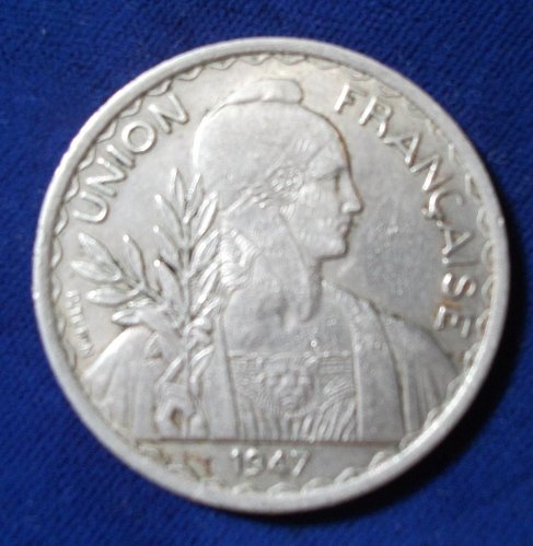 1947 French Indo-China Piastre XF