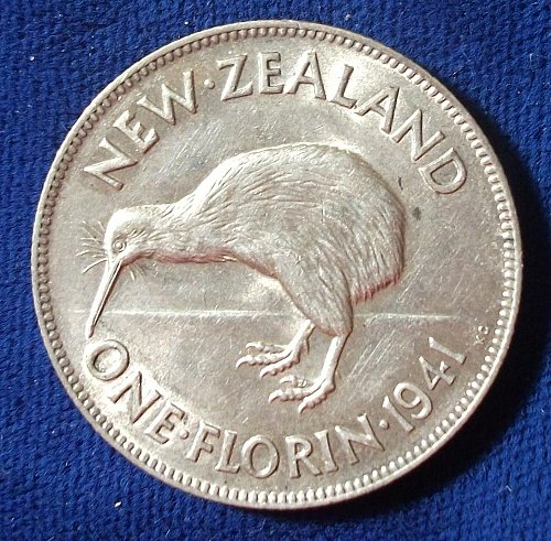 1941 New Zealand Florin XF