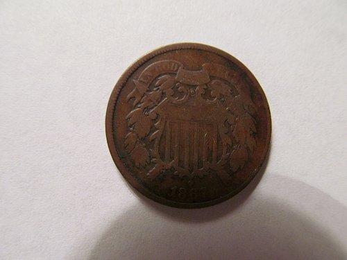 1867 2-cent piece