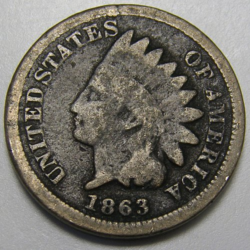 1863 Indian Head Cent #13