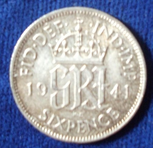 1941 Great Britain Sixpence UNC