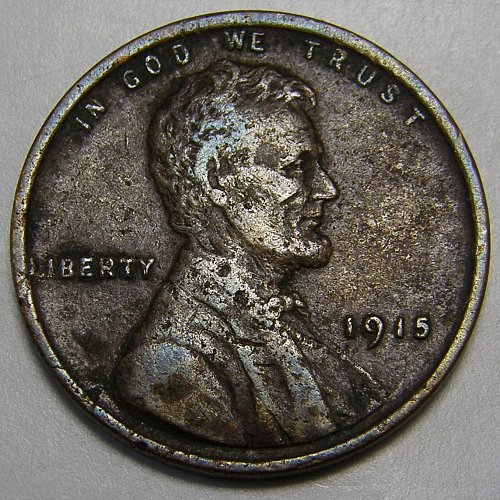1915 P Lincoln Wheat Cent Cent #3