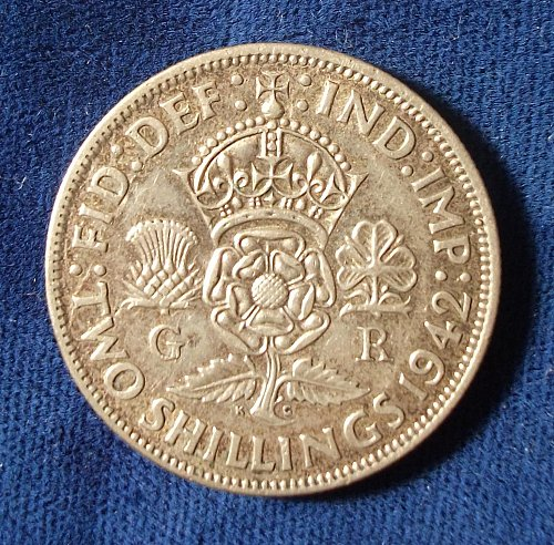 1942 Great Britain Florin XF