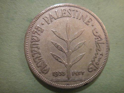 PALESTINE (ISRAEL) 100 Mils 1933 Fine-12 72% SILVER 0.2700 ASW KM#7