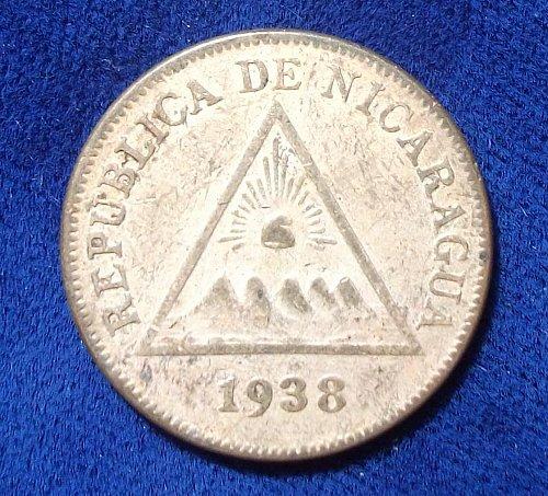 1938 Nicaragua Centavo XF
