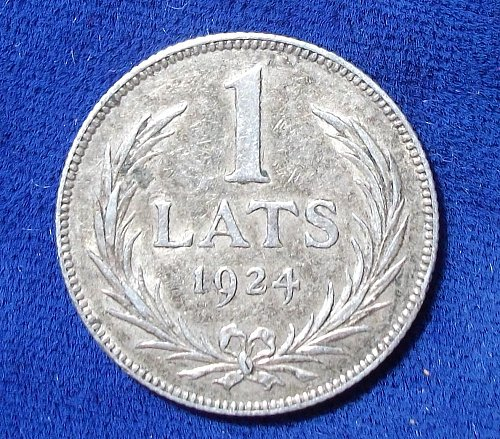 1924 Latvia Lats VF++