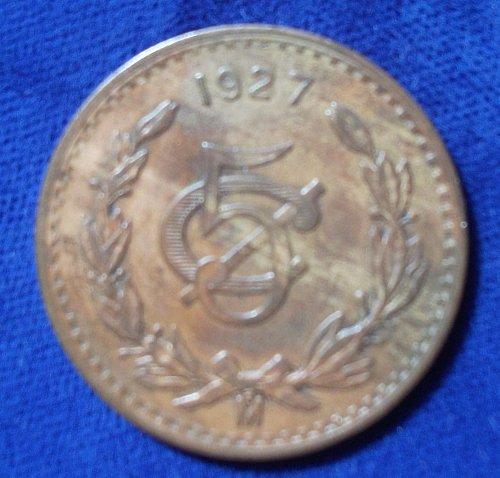 1927 Mexico 5 Centavos VF+